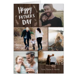 Carte Carte sylvatique de fête des pères de 5 photos