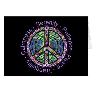Carte Symbole de paix avec la paix, harmonie, équilibre