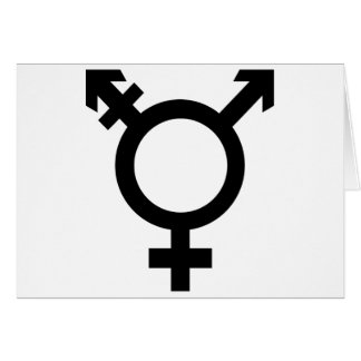 Carte Symbole noir de transsexuel
