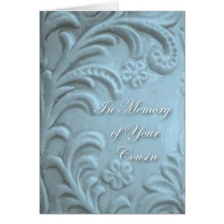 Carte Sympathie pour la perte de cousin, formes bleues