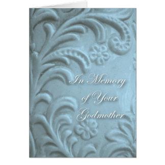 Carte Sympathie pour la perte de marraine, formes bleues
