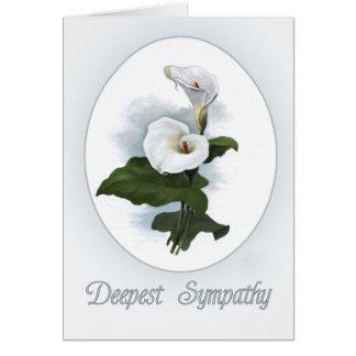 Carte Sympathie, zantedeschias blancs