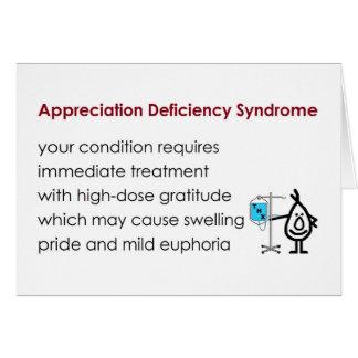 Carte Syndrome d'insuffisance d'appréciation - drôle