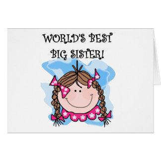 Carte T-shirts de la grande soeur du monde de brune les