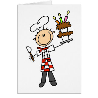 Carte T-shirts et cadeaux de chef de pâtisserie