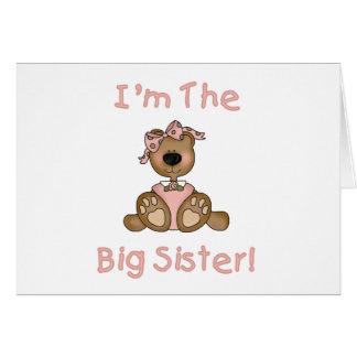 Carte T-shirts et cadeaux de grande soeur d'ours de