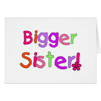 Carte T-shirts et cadeaux de plus grande soeur