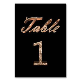 Carte Tableau noir chic élégant numéro 1 de partie d'or
