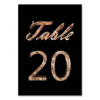 Carte Tableau noir chic élégant numéro 20 de partie d'or