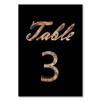 Carte Tableau noir chic élégant numéro 3 de partie d'or