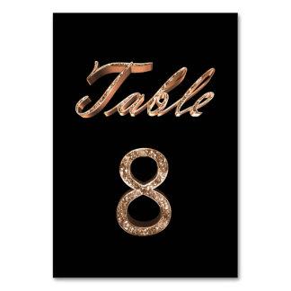 Carte Tableau noir chic élégant numéro 8 de partie d'or