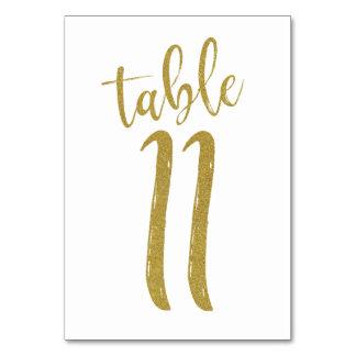Carte Tableau numéro 11 de parties scintillantes d'or