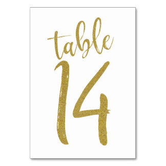 Carte Tableau numéro 14 de parties scintillantes d'or