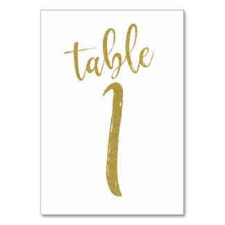 Carte Tableau numéro 1 de parties scintillantes d'or