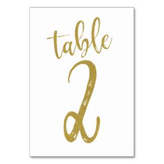 Carte Tableau numéro 2 de parties scintillantes d'or