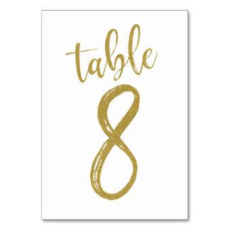 Carte Tableau numéro 8 de parties scintillantes d'or
