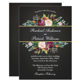 Carte Tableau rustique et mariage floral