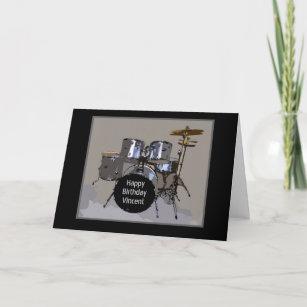 Carte Tambours De Joyeux Anniversaire De Vincent
