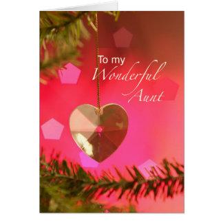 Carte Tante Christmas Heart sur des joies simples