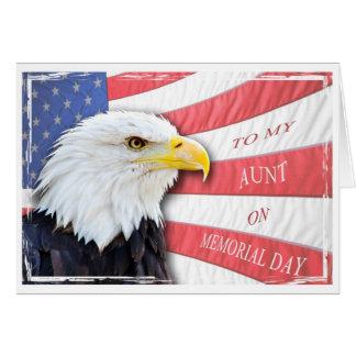 Carte Tante, Jour du Souvenir, avec un aigle chauve