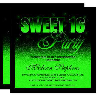 Carte Tape-à-l'oeil et bonbon vert noir et au néon