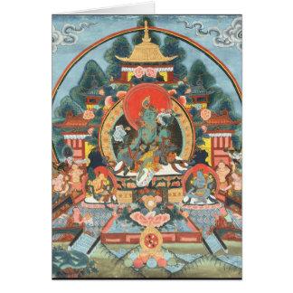 Carte Tara vert avec le bourdonnement de l'OM Mani Padme