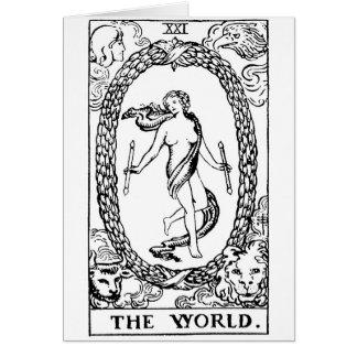 Carte Tarot 'le worl'd