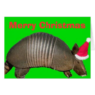 Carte Tatou Père Noël, Joyeux Noël