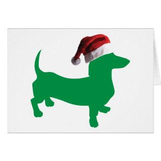 Carte Teckel de Noël
