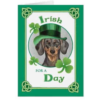 Carte Teckel du jour de St Patrick