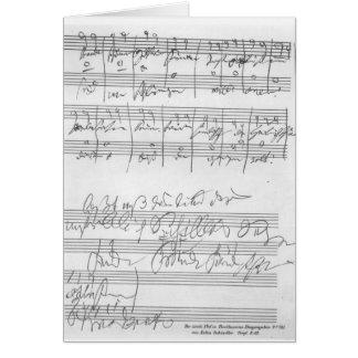 Carte Télécopie d'une page de la musique
