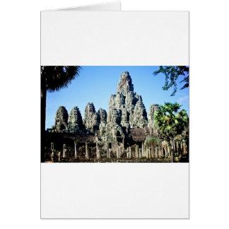 Carte Temple de Bayon dans Angkor, Cambodge