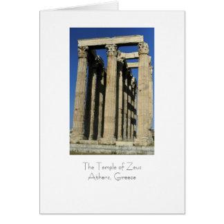 Carte Temple de Zeus