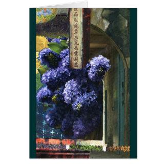 Carte Temple lilas