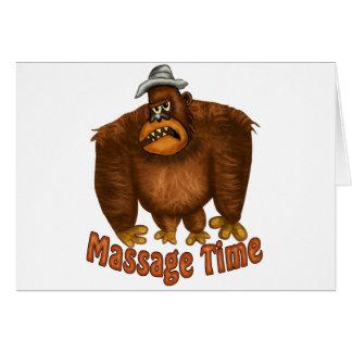 Carte Temps de massage