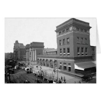 Carte Terminal pour passagers 1895 Boston mA