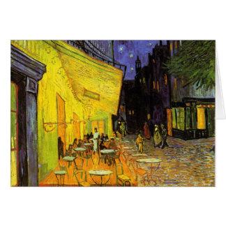 Carte Terrasse de café de Vincent van Gogh à l'art de