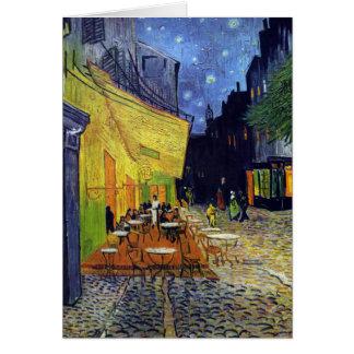 Carte Terrasse de café la nuit par Vincent van Gogh 1888
