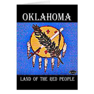 Carte Terre de l'Oklahoma des personnes rouges