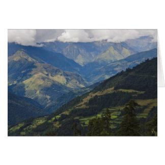 Carte Terres cultivables et village en Himalaya