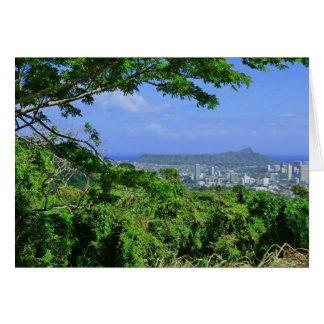 Carte Tête de diamant, Honolulu, Hawaï