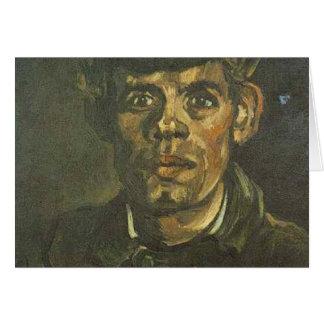 Carte tête de Vincent van Gogh d'un jeune paysan dans