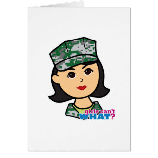 Carte Tête militaire moyenne de Camo de fille