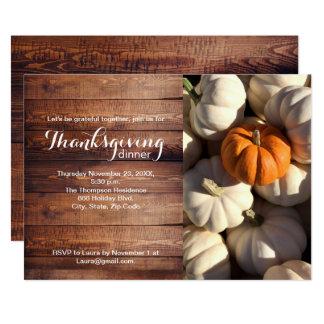 Carte Thankgiving, citrouille, automne