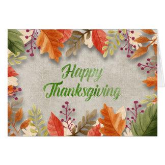 "Carte Thanksgiving - aquarelles de ""bon thanksgiving"""