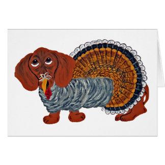 Carte Thanksgiving Turquie de teckel