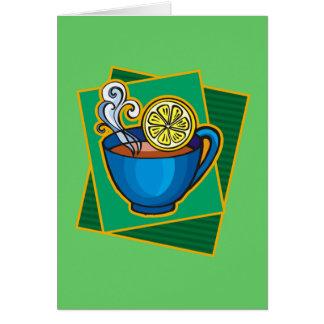Carte Thé avec le citron