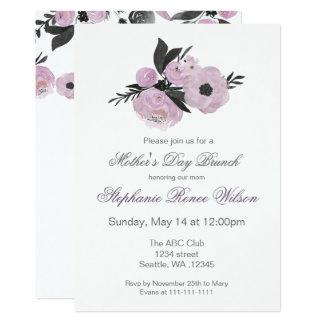 Carte Thé floral de brunch du jour de mère d'aquarelle
