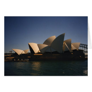 Carte Théatre de l'opéra de Sydney
