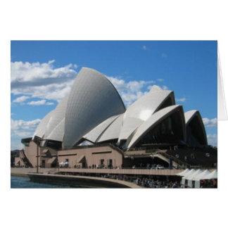 Carte Théatre de l'opéra, Sydney Australie